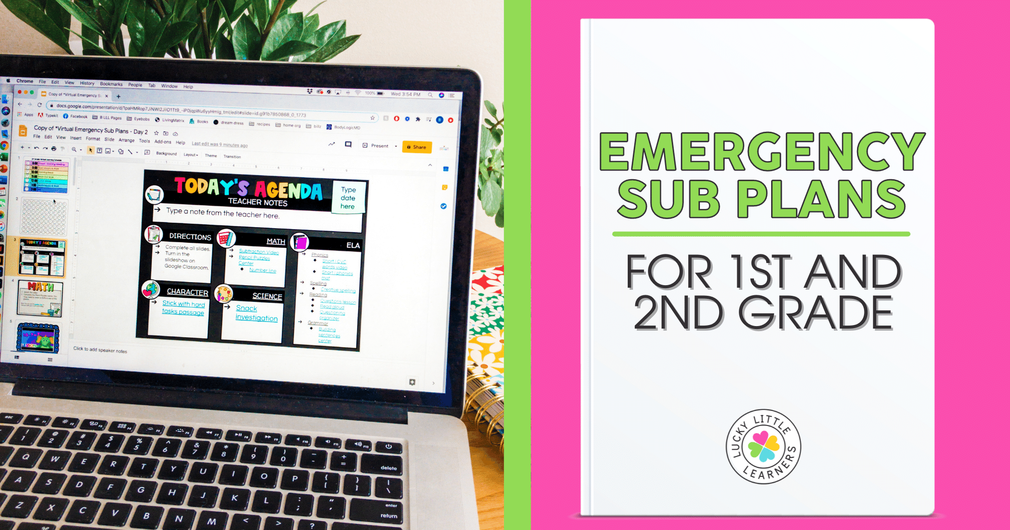 emergency sub plans and ideas for 1st and 2nd grade