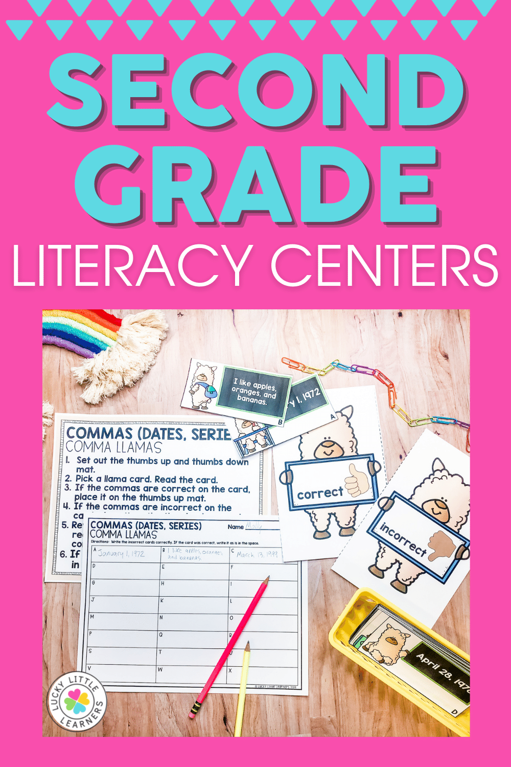 high engagement and standards aligned 2nd grade literacy centers for the full school year