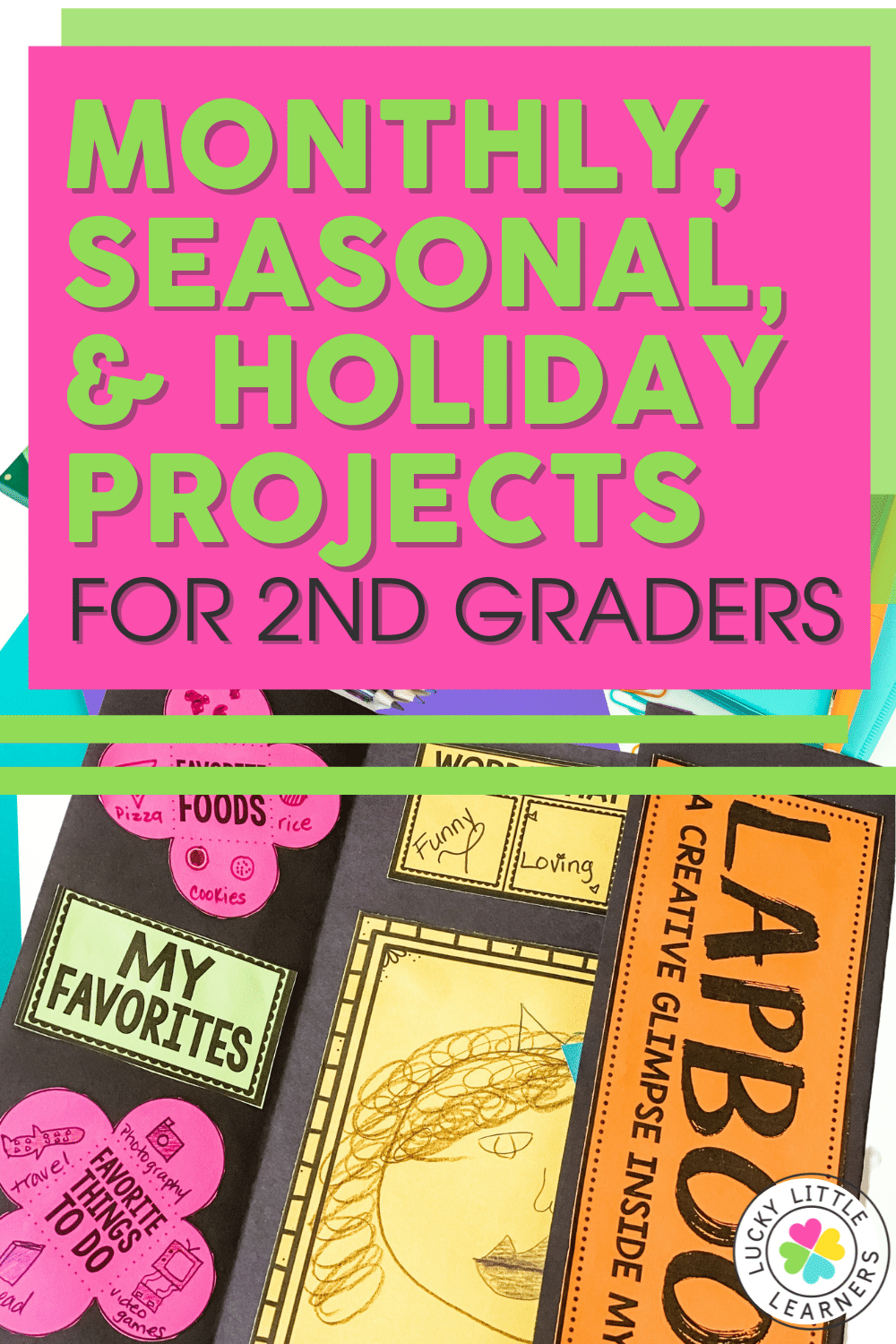 These seasonal and holiday projects for 2nd graders are a fun and unique way to dive deep into a variety of topics, while showing evidence of learning through creative writing.
