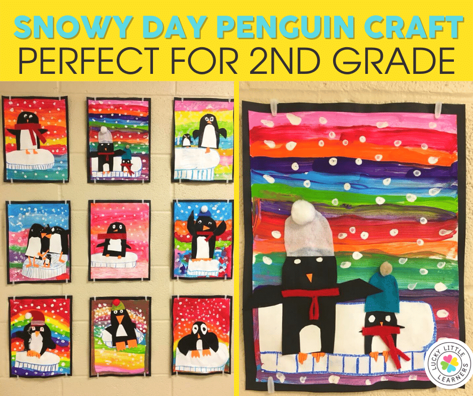snowy day penguin craft for 2nd grade
