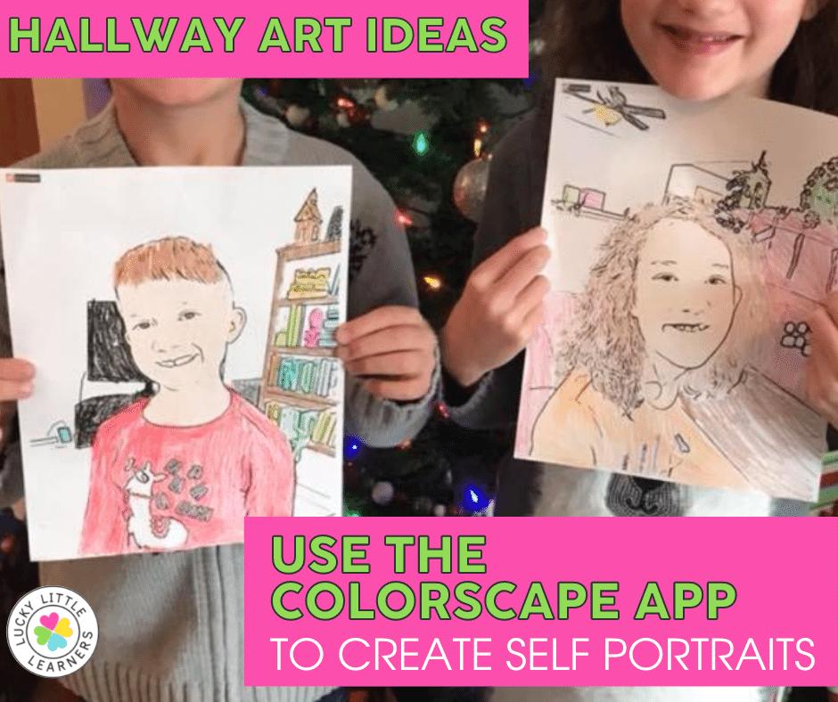 the colorscape app creates self portraits kids can color