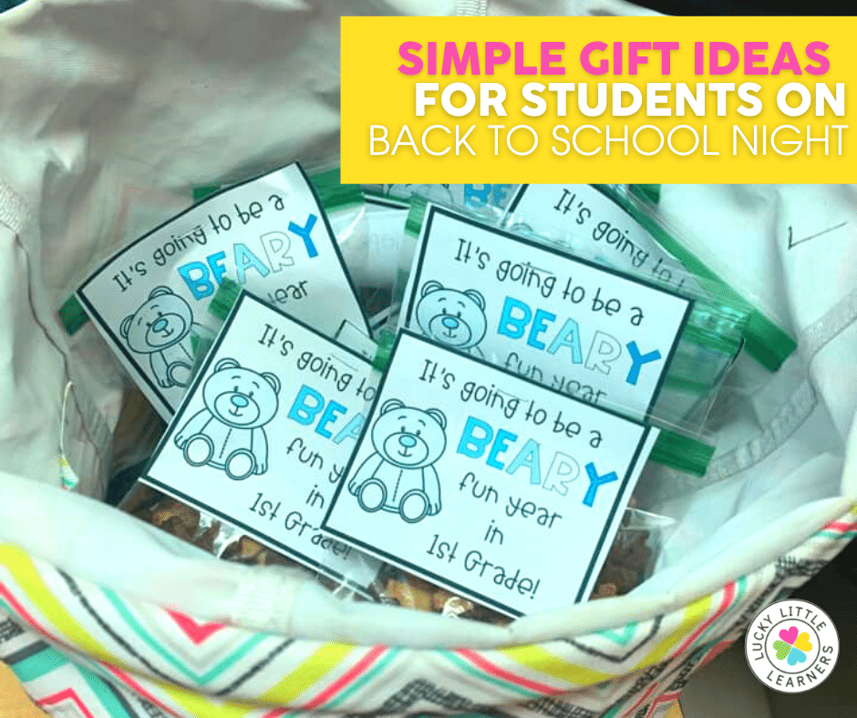 its going to be a beary fun year student gifts for back to school night