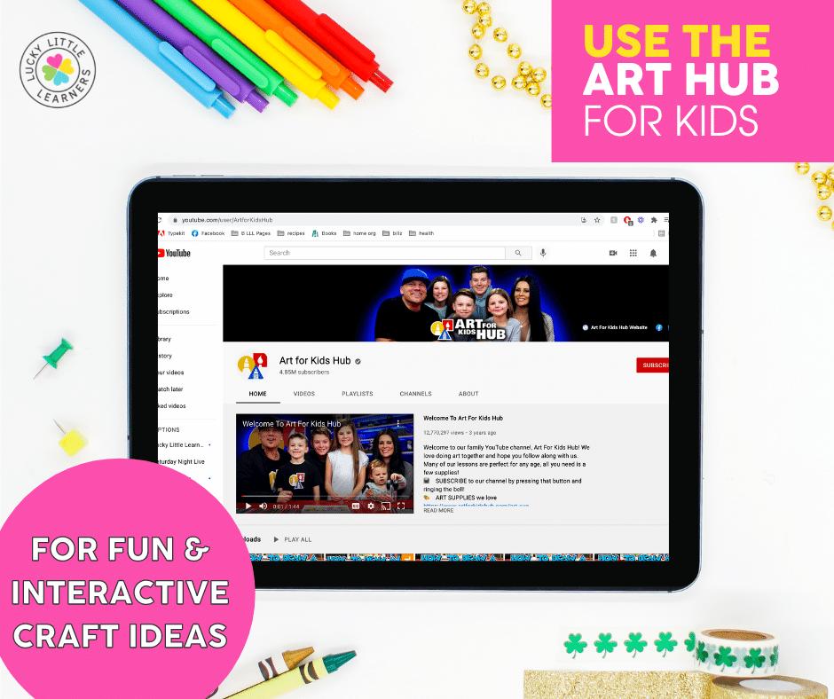 art hub for kids fun and interactive craft idea