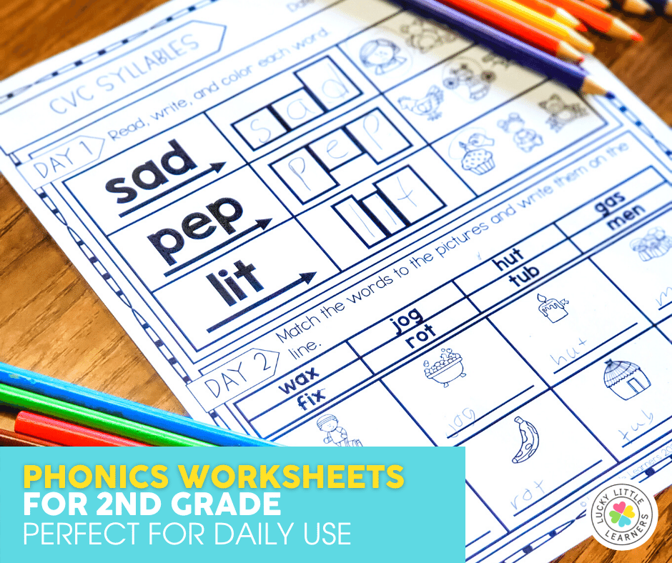 daily phonics review sheets for 2nd grade