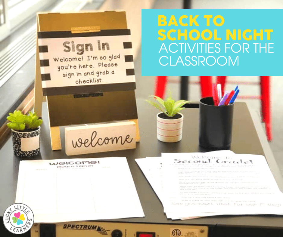 welcome station for back to school night