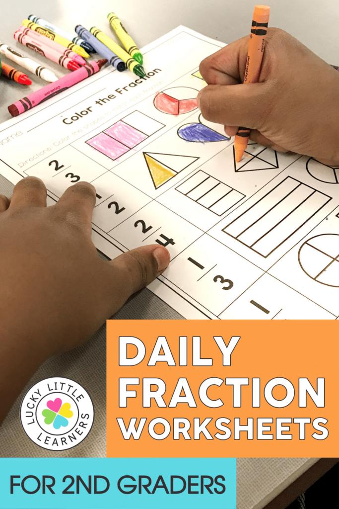 fraction worksheets for second grade