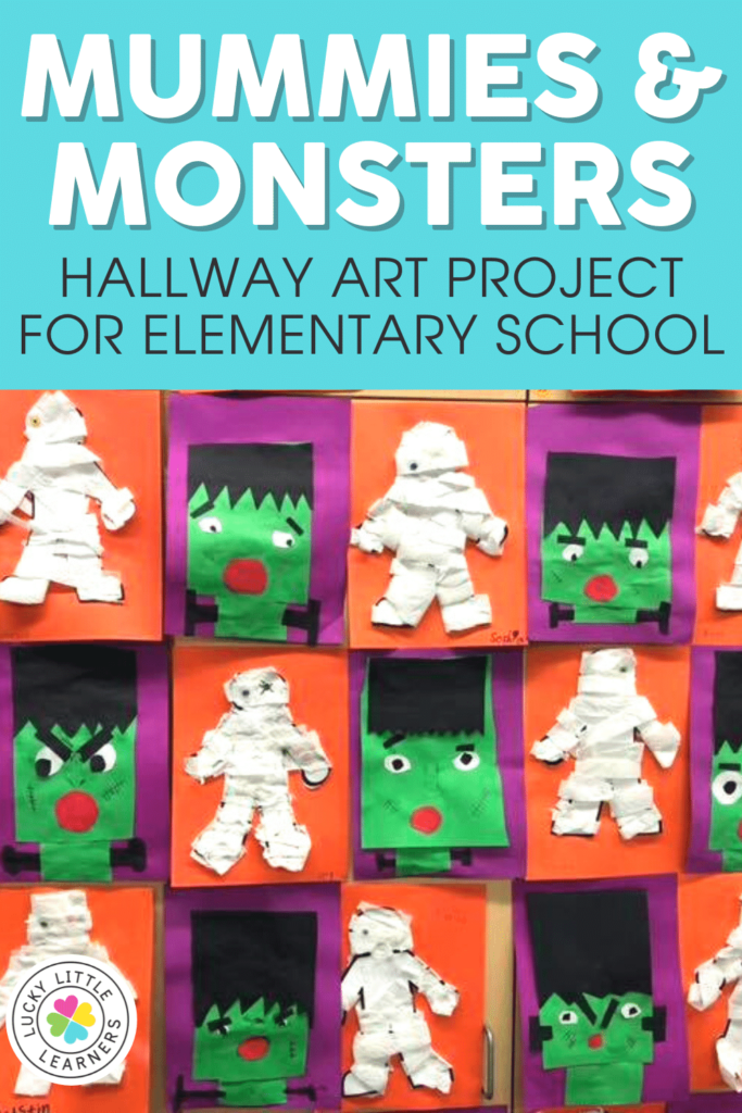 mummies and monsters art project for elementary schools