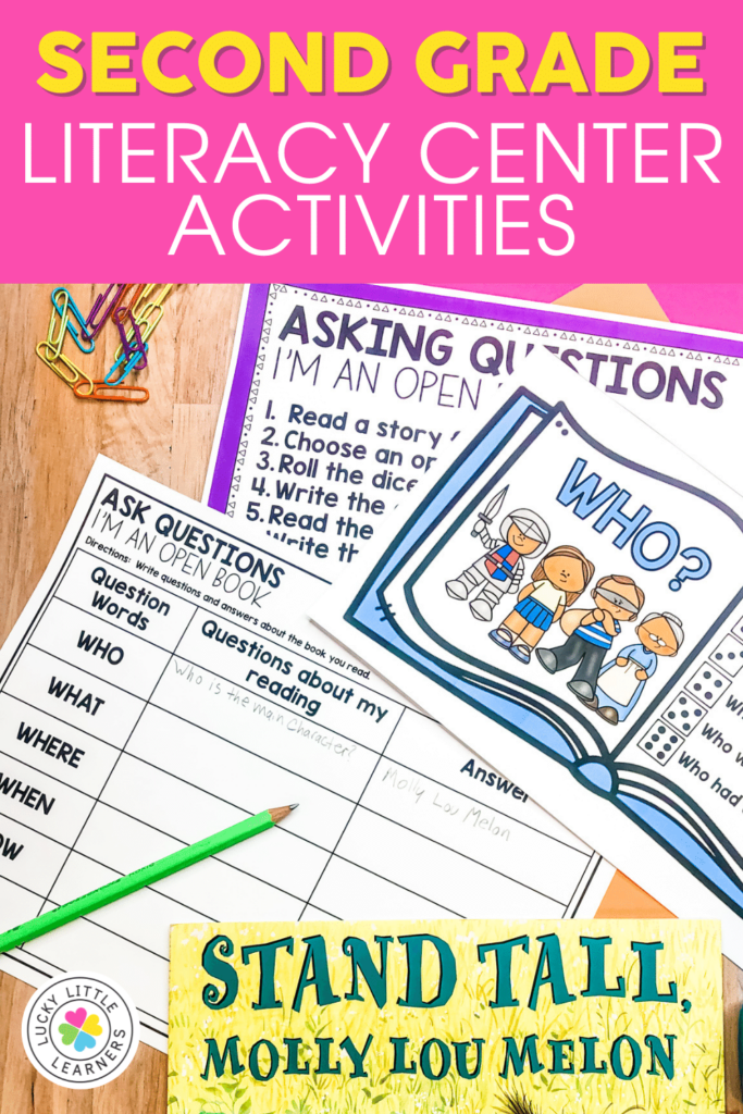 Second Grade Asking Questions Reading Center