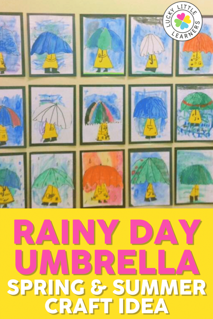 rainy day umbrella springtime craft idea