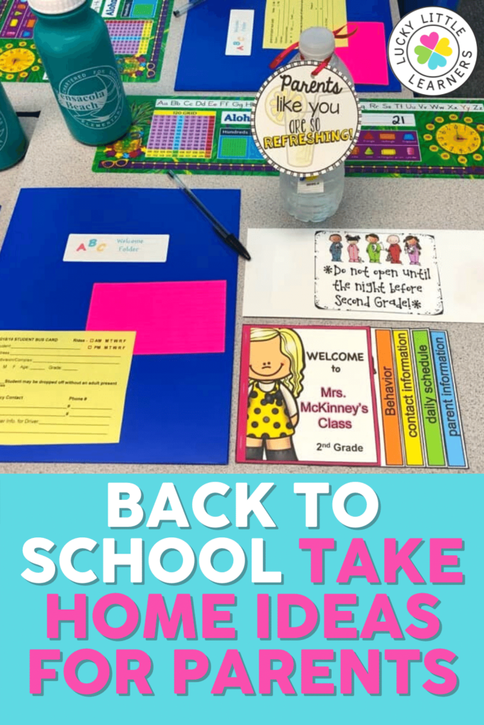 take home ideas for parents on back to school night