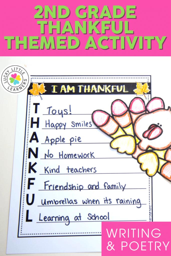 thankful themed writing activity