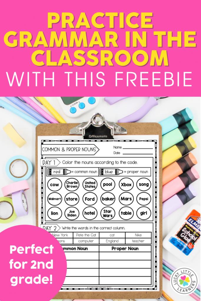free grammar practice activities for the 2nd grade classroom