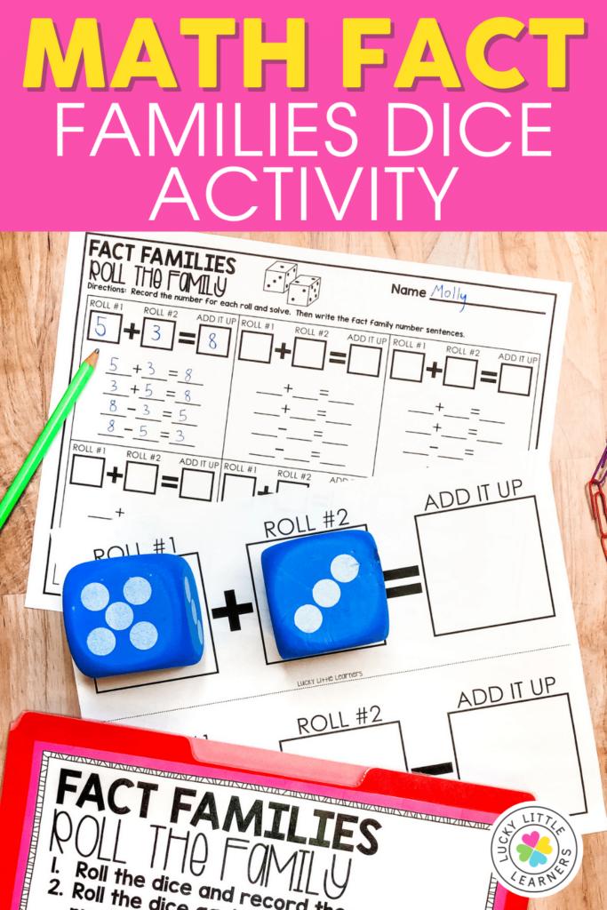 math fact family dice activity