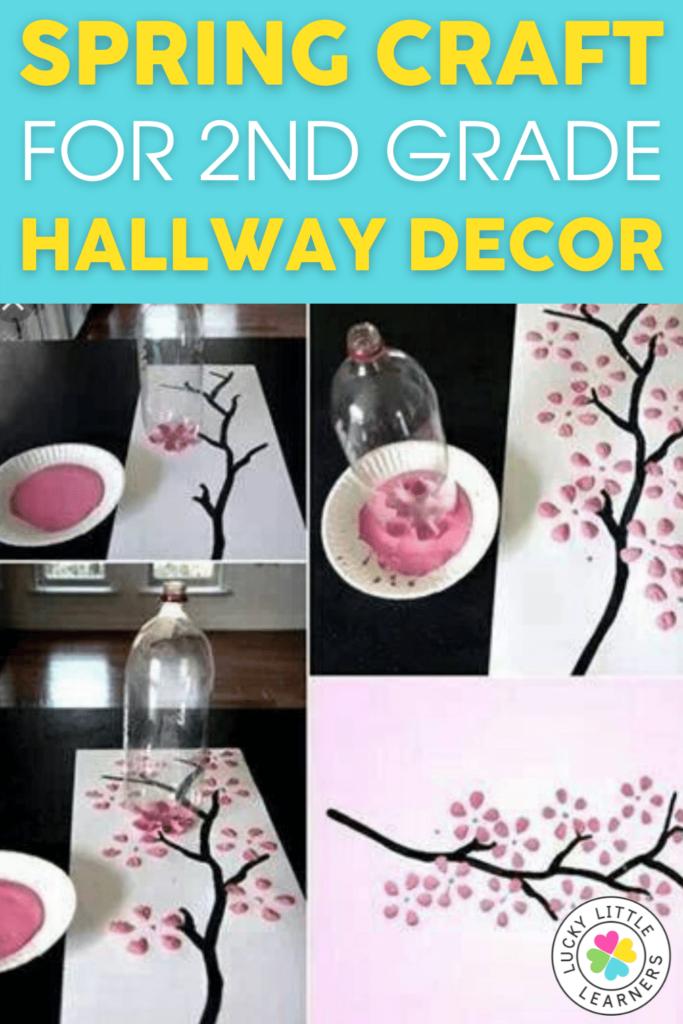 spring craft for 2nd grade hallway decor