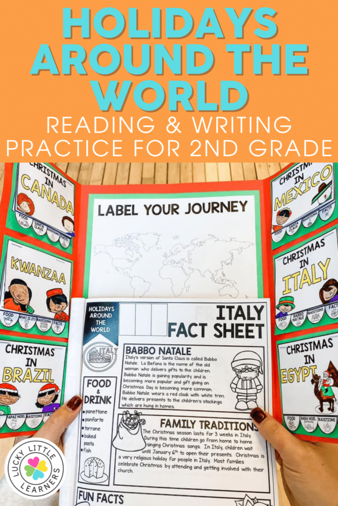 holidays around the world reading and writing project for 2nd graders