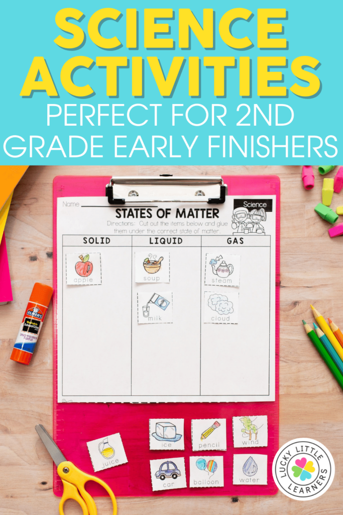 science activities for 2nd grade early finishers