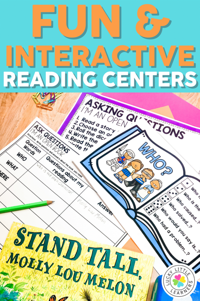 fun and interactive reading centers for 2nd grade