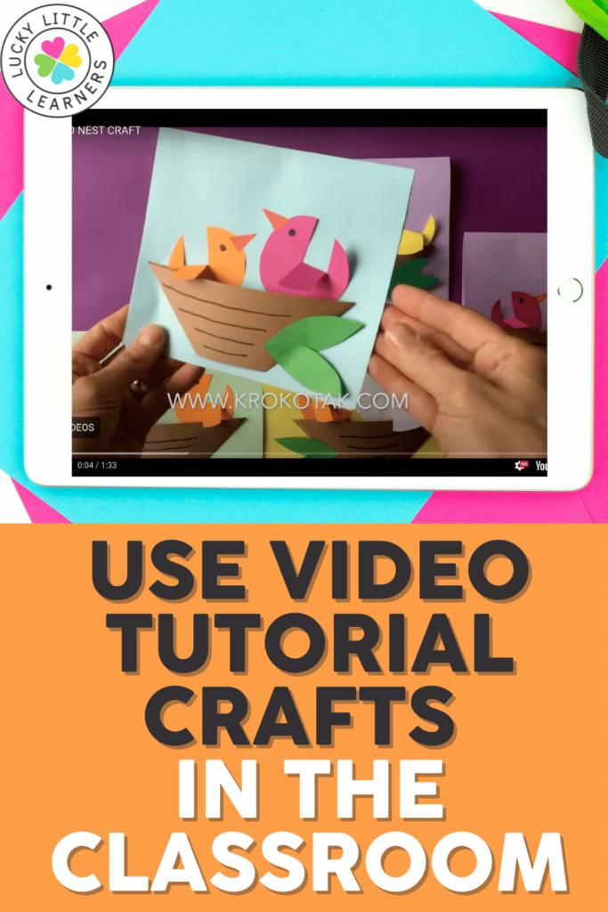 springtime birds cutting craft idea with video tutorial