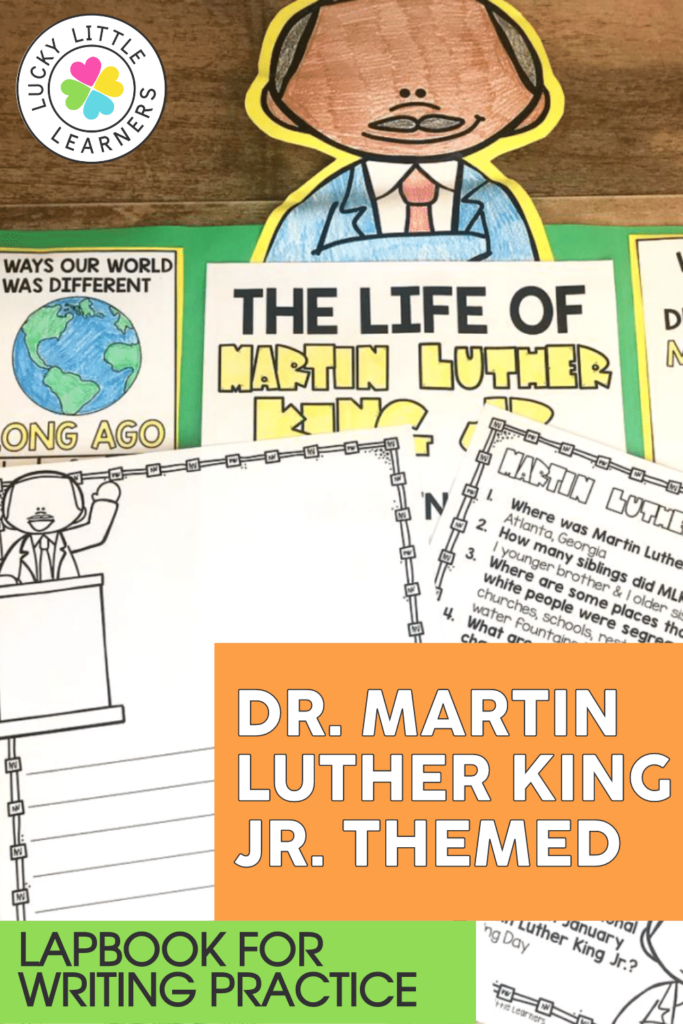martin luther king junior writing project