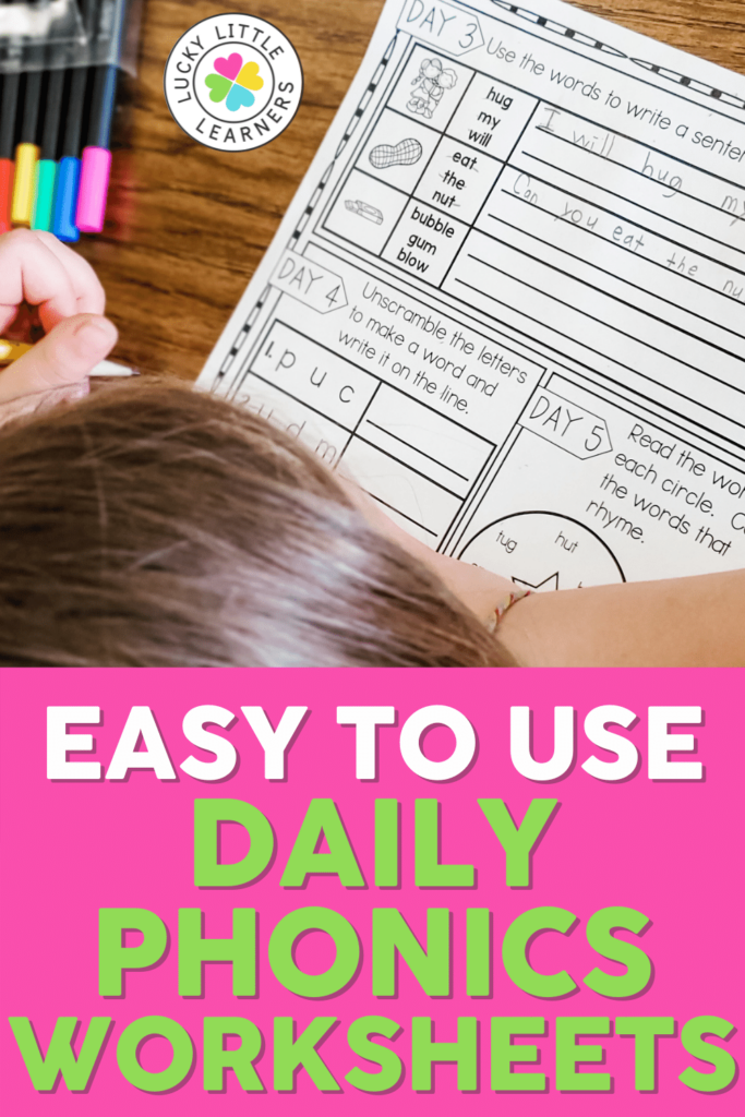 easy to use no prep daily phonics worksheets for second grade
