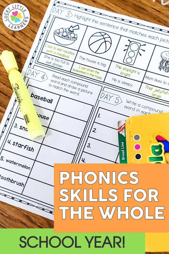 daily phonics review sheets for the full second grade year