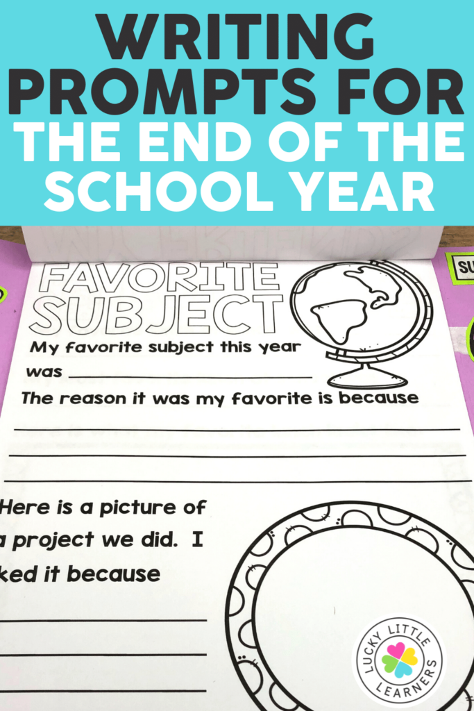 end of the year memory book writing project
