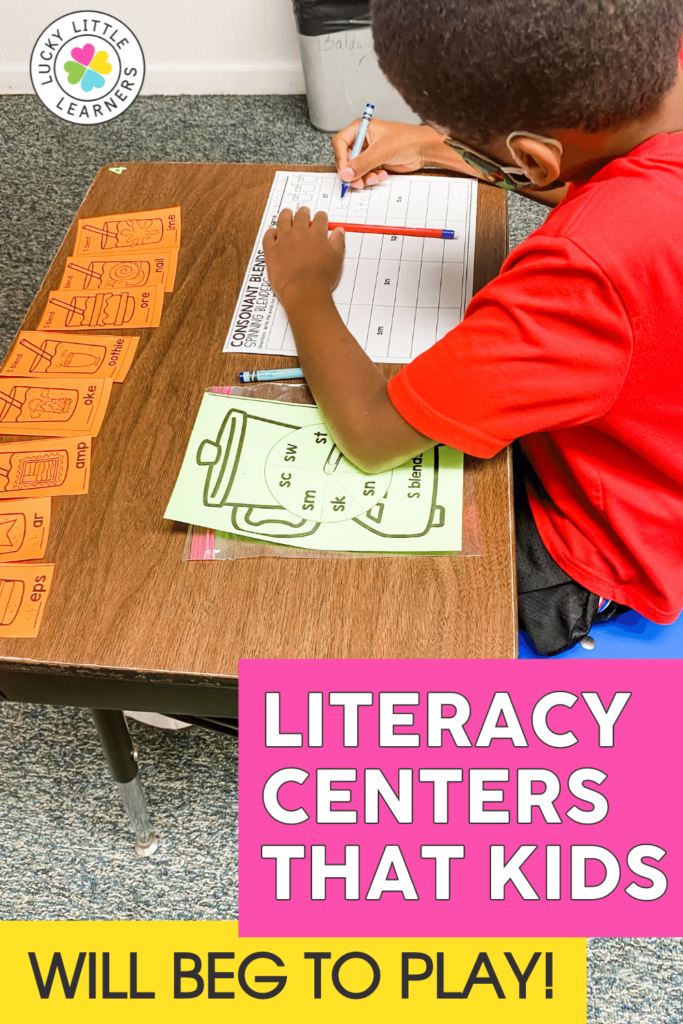 phonics grammar reading and writing literacy centers for the entire school year