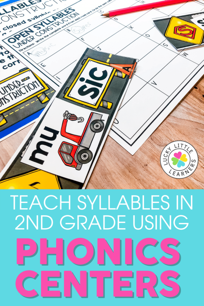 teach syllables in 2nd grade using phonics centers