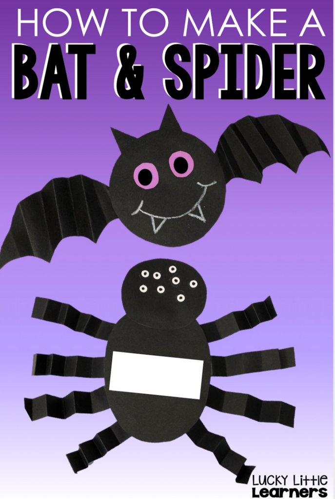 how to make a bat and spider