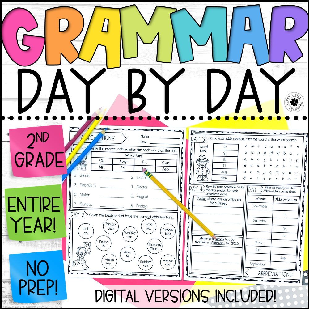 daily grammar review for the full school year