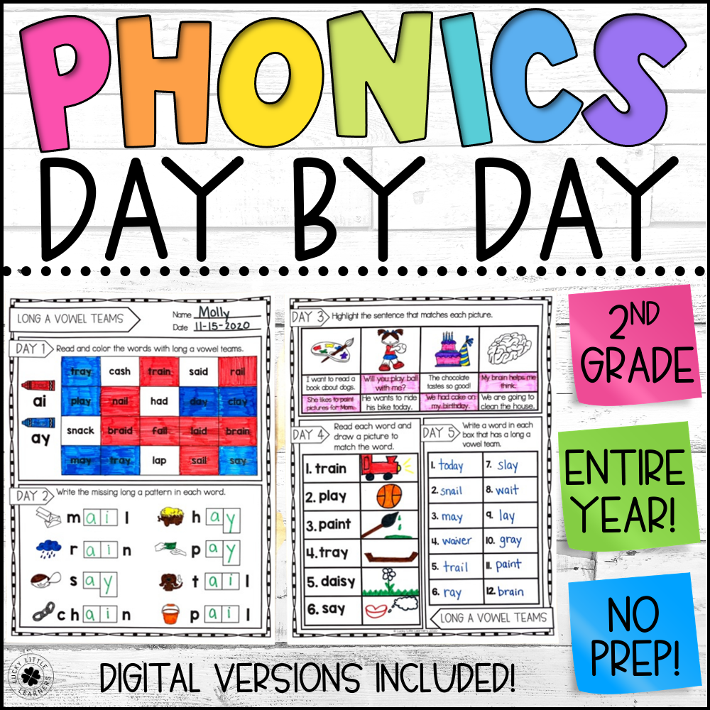 phonics day by day for second grade