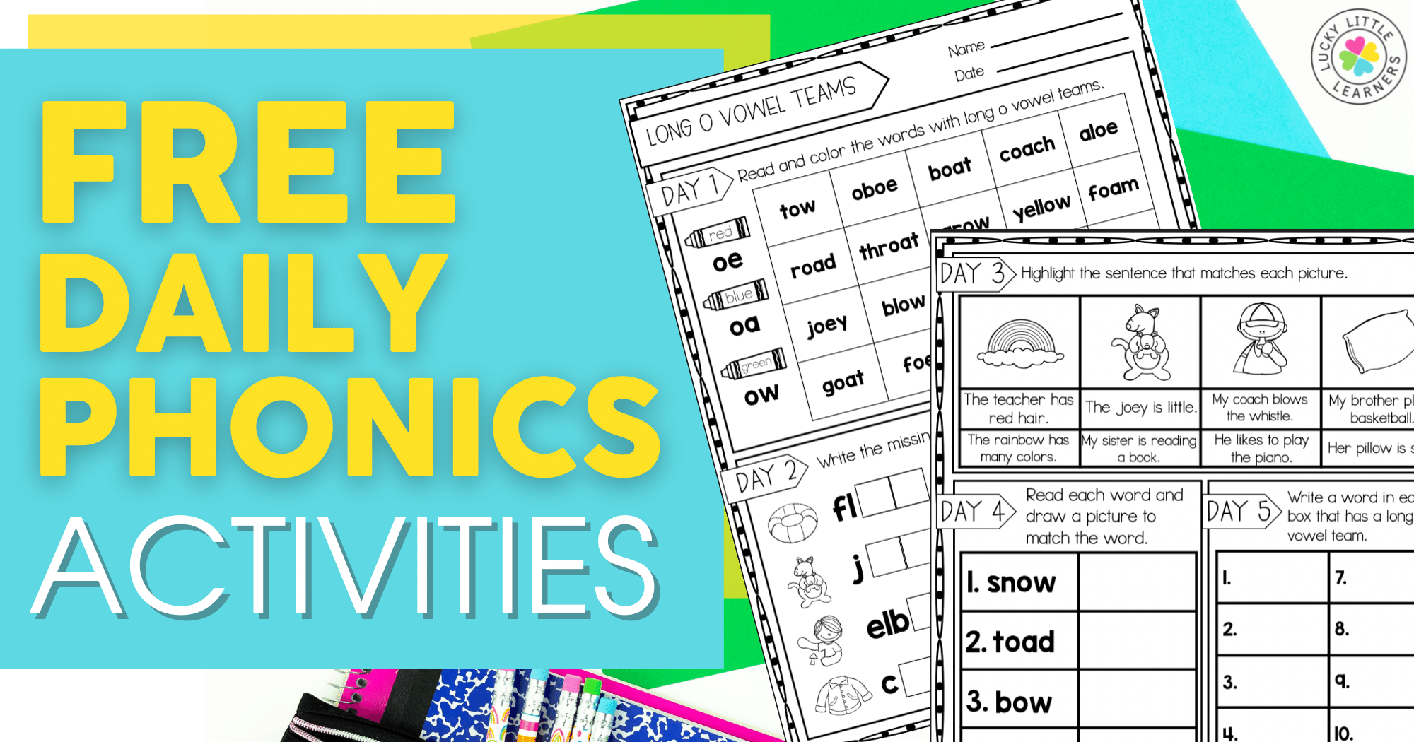 Free Daily Phonics Activities for 2nd Grade