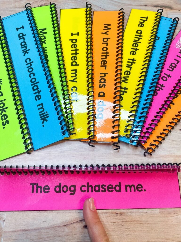 sentence flipbooks to use during literacy interventions