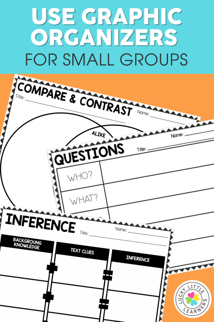 Graphic organizers to use with reading groups