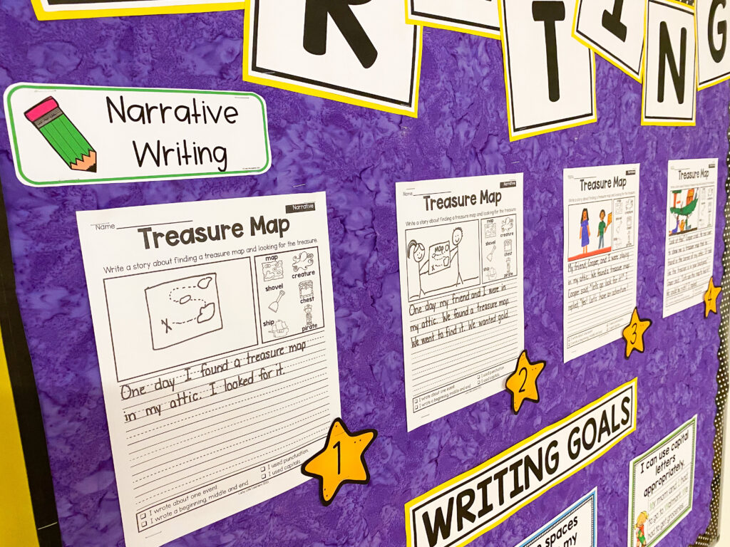 visual writing rubrics for 1st and 2nd grades