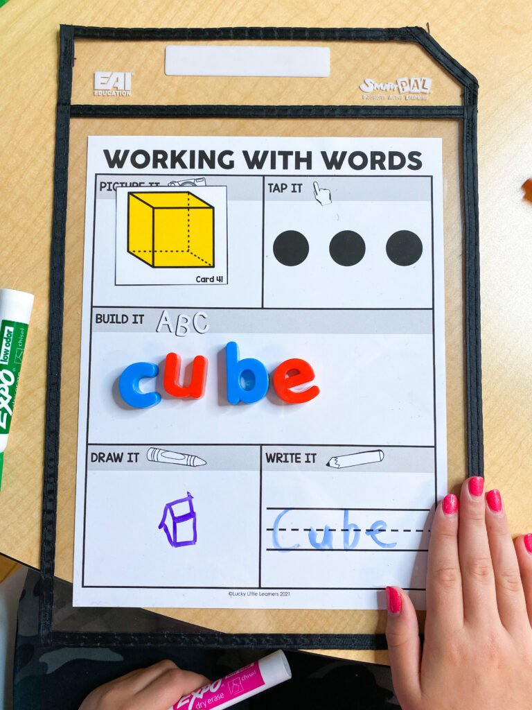 working with words literacy intervention routine