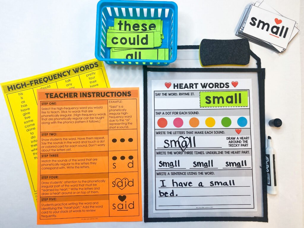 heart word routine for learning sight words