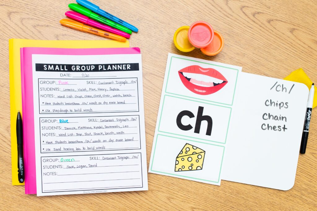 small group planning tools for 1st and 2nd grade