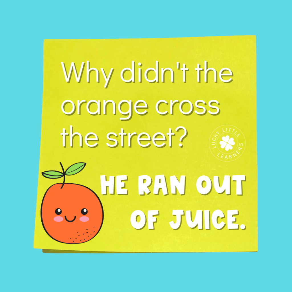 2nd grade joke to use as a morning message