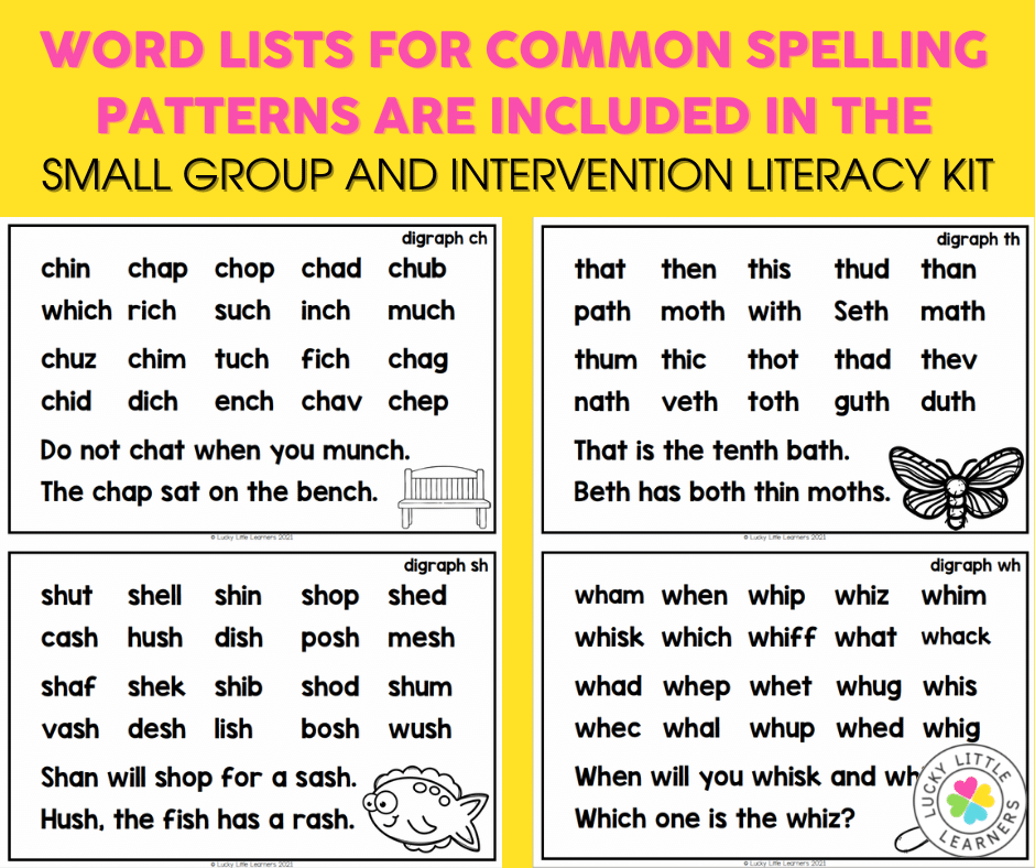 word lists to practice phonics patterns