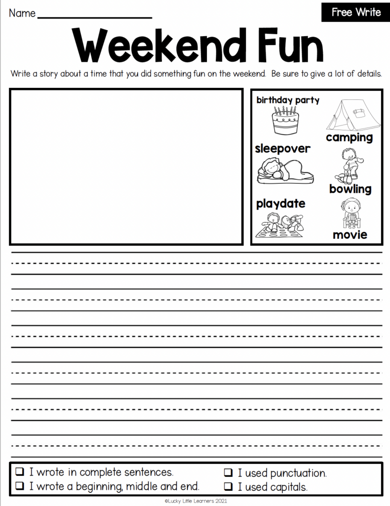 writing intervention high interest low pressure prompt pages