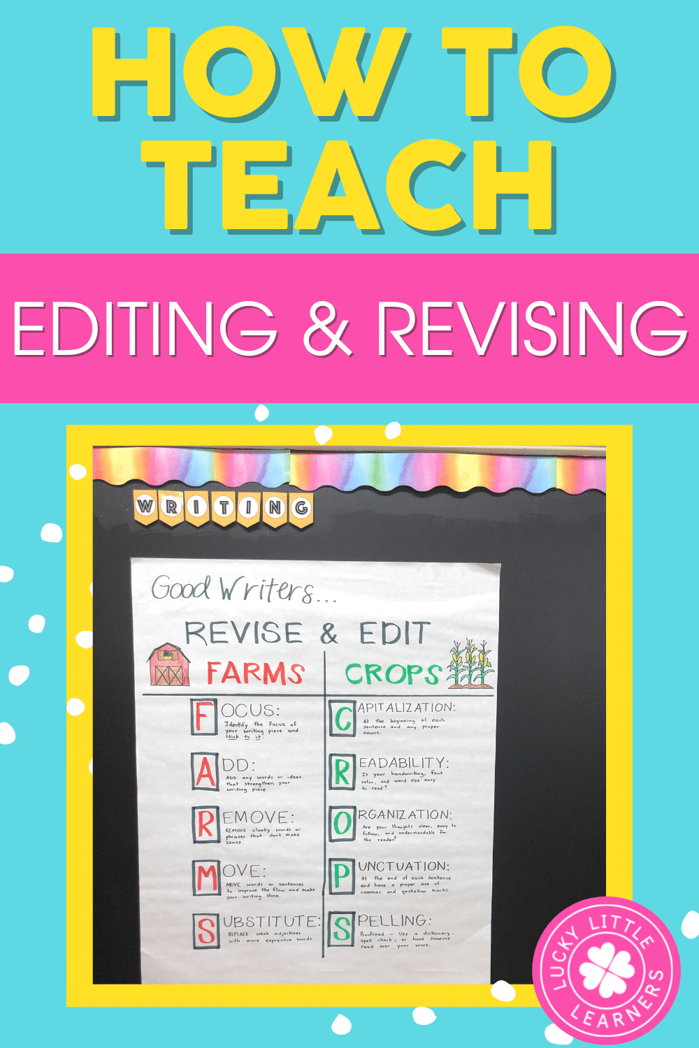 how to teach editing and revising