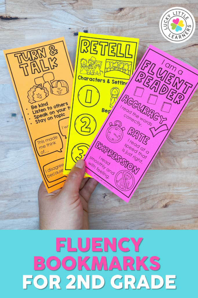 fluency and comprehension bookmarks