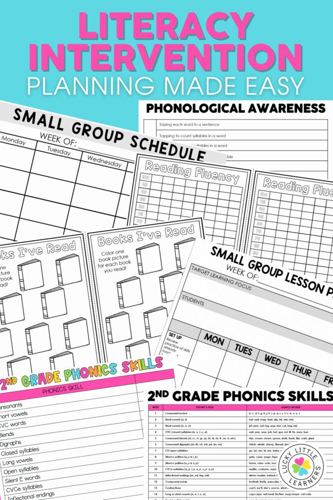 literacy intervention planning tools