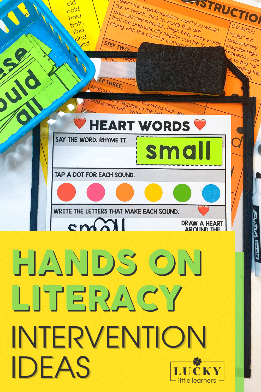 hands on literacy intervention activities