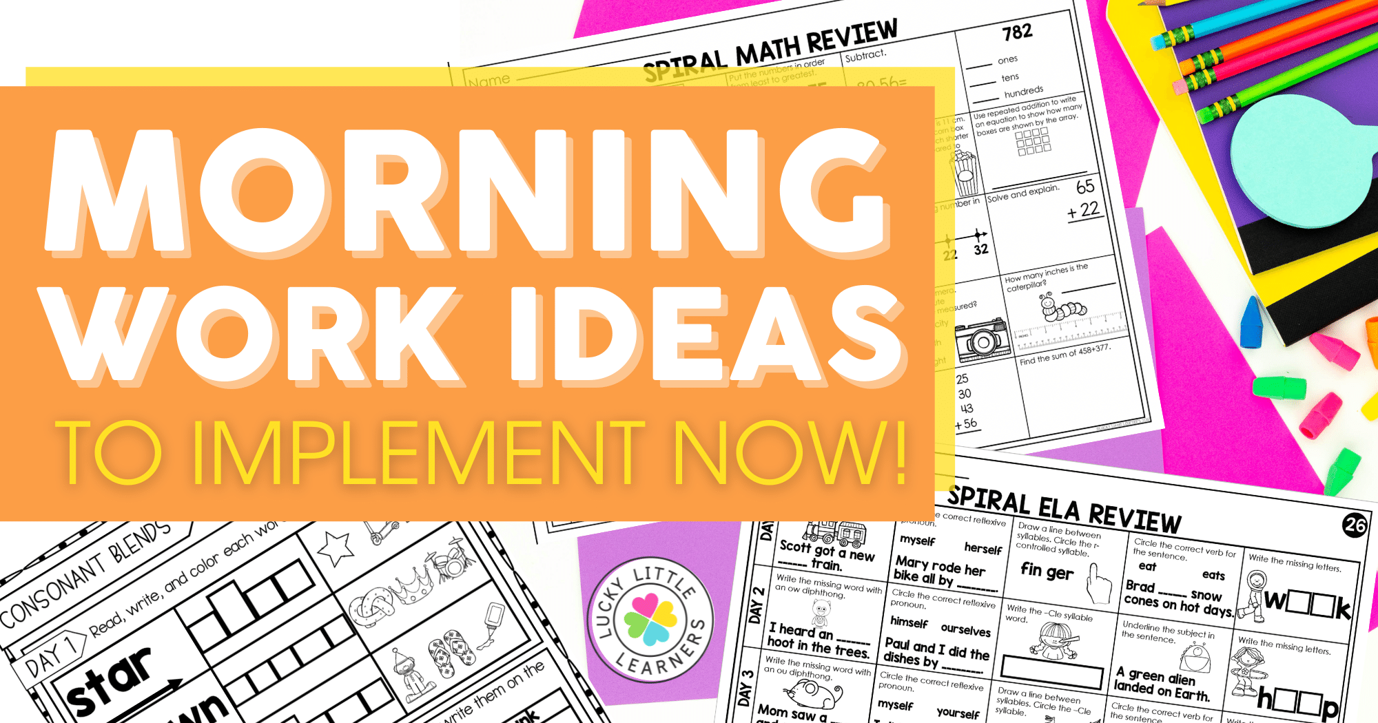 Morning Work Ideas to Implement Now!