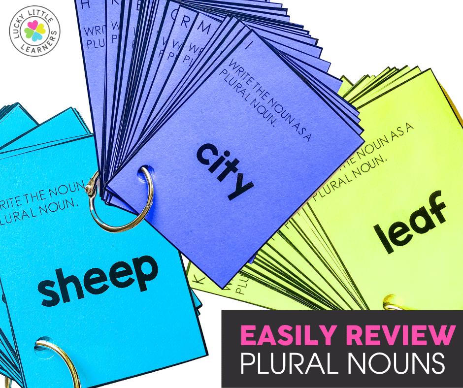 plural noun task card review activity
