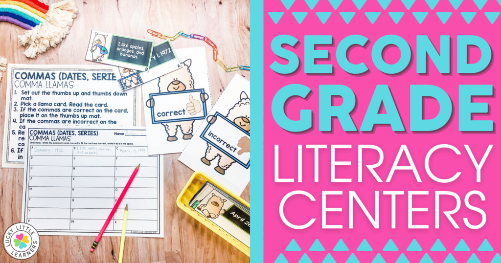 second grade literacy center activities for reading writing grammar and phonics