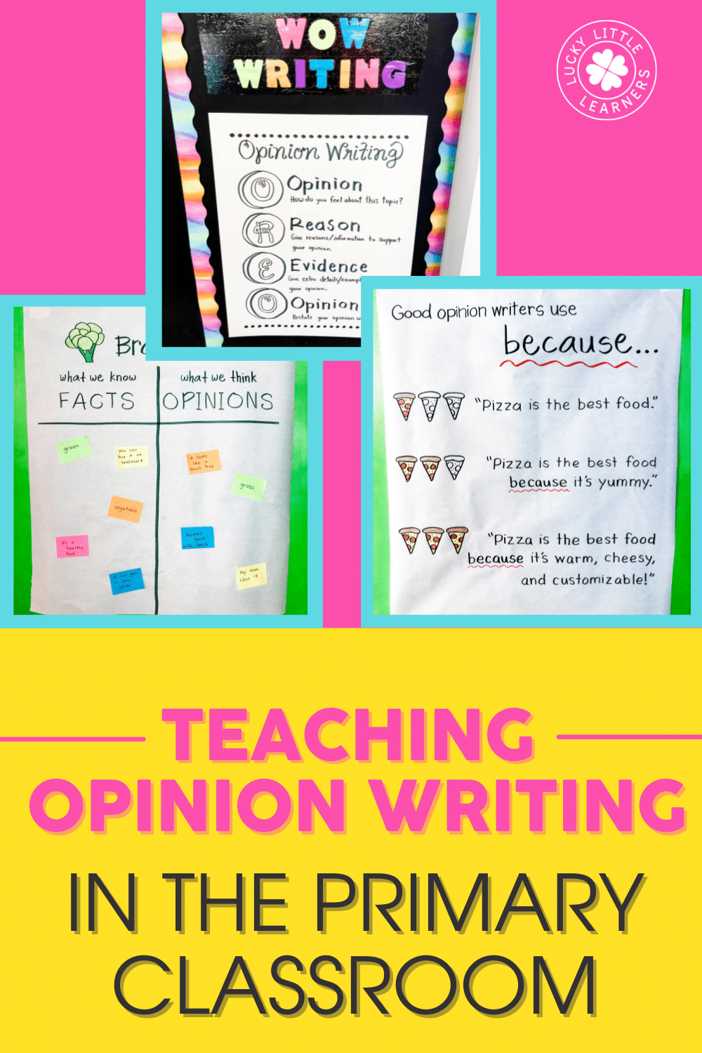 ideas for teaching opinion writing in the primary classroom