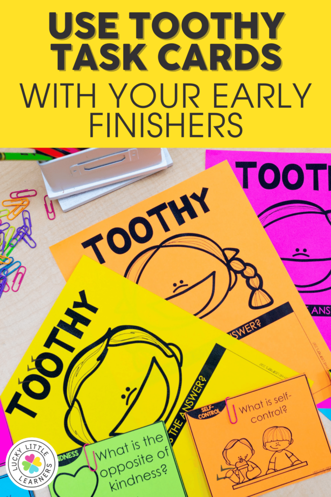 toothy games make great activities for early finishers